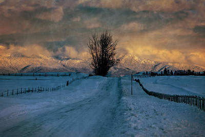 Photograph - Montana Back Road Sunset by Wes and Dotty Weber