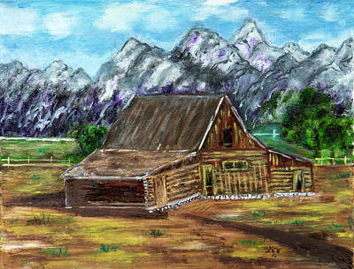 Painting - Montana Barn by Lucille Valentino