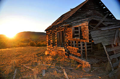 Photograph - Montana Cabin Sunset by Braden Moran