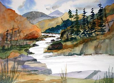 Montana Canyon Art Print