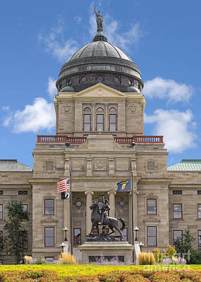 Capitol Building Digital Art - Montana Capitol Building by Jerry Fornarotto