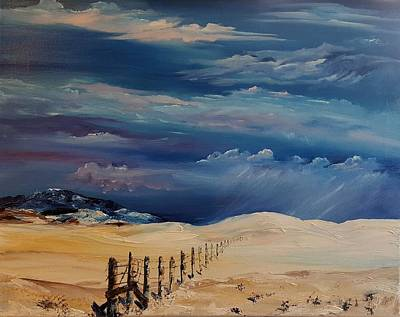 Painting - Montana Colliding Storm Fronts       1 by Cheryl Nancy Ann Gordon