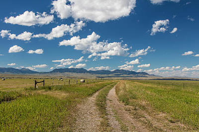 Photograph - Montana Countryside And Clouds by John McGraw