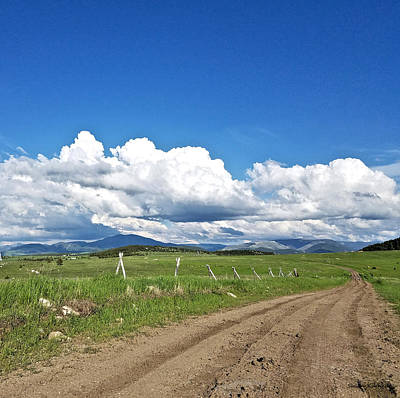 Digital Art - Montana Dirt Roads 1 by Susan Kinney