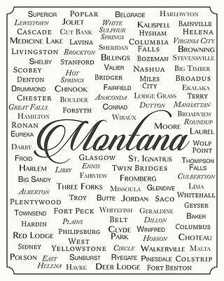 State Of Montana Digital Art - Montana by Finlay McNevin