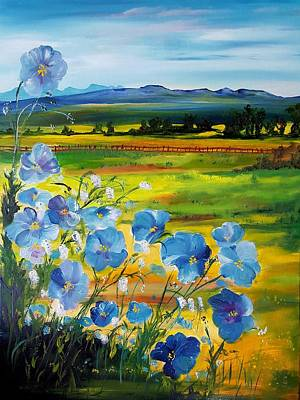 Painting - Montana Flax                             35 by Cheryl Nancy Ann Gordon