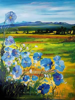 Painting - Montana Flax                             35 by Cheryl Nancy Ann Gordon