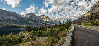 Photograph - Montana Going To The Sun Road Cloudy Day by John McGraw