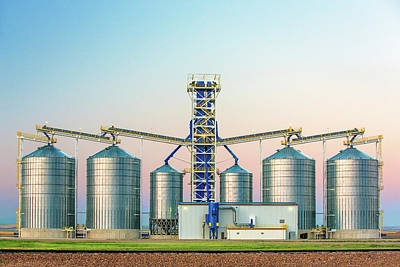 Grain Elevator Wall Art - Photograph - Montana Highrise by Todd Klassy