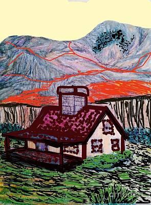 Homestead Mixed Media - Montana Homesteader  by Ishy Christine