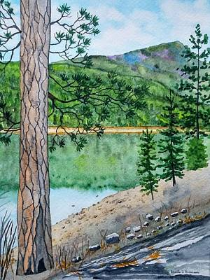 Painting - Montana - Lake Como by Laurie Anderson