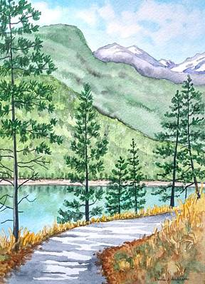 Painting - Montana - Lake Como Series by Laurie Anderson