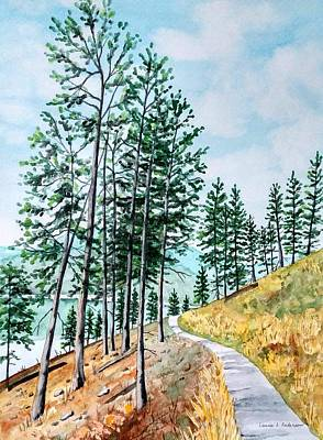 Painting - Montana Lake Como Trail by Laurie Anderson