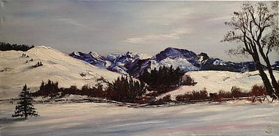 Painting - Squaw Creek  Madison Range      3 by Cheryl Nancy Ann Gordon