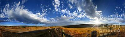 Claude Monet - Montana Morning Fields Landscape Panorama by Bruce Lemons