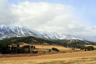 Montana Mountains Art Print by Lynn Bawden