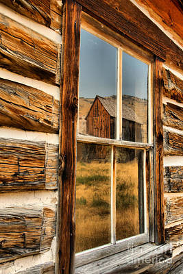 Photograph - Montana Old Ghost Town Reflections by Adam Jewell
