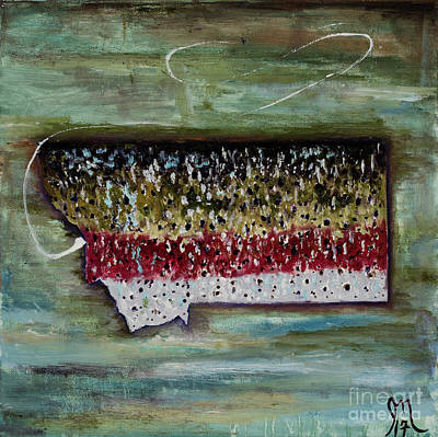 Trout Painting - Montana Rainbow by Jodi Monahan