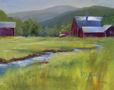 Montana Ranch Art Print