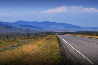 Photograph - Montana Road Highway Running Through The  Mountain Foothills Near Yellowstone by Randall Nyhof
