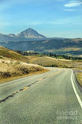 Art Print featuring the photograph Montana Road by Jill Battaglia