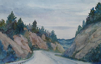 Butte Montana Painting - Montana Road Trip by Jenny Armitage