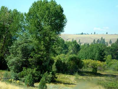 Photograph - Montana Roadside Through The Big Rig Window - 2015 by David Trotter