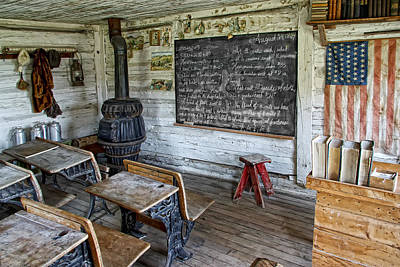 School Houses Photograph - Montana School Lesson August 29 1864 by Daniel Hagerman
