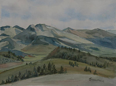 Big Skies Painting - Montana Skyline by Jenny Armitage