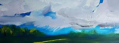 Painting - Montana Spring Snow Storm      25 by Cheryl Nancy Ann Gordon