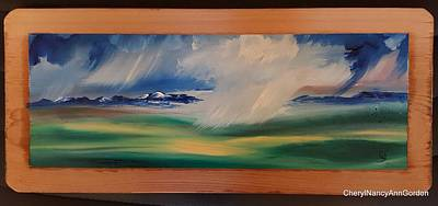 Painting - Montana Spring Storms      20 by Cheryl Nancy Ann Gordon