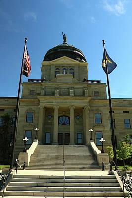 Photograph - Montana State Capitol  by Christiane Schulze Art And Photography