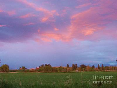 Photograph - Montana Sunset 2 by Deahn      Benware