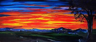 Painting - Montana Sunset Colors                     72 by Cheryl Nancy Ann Gordon