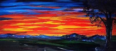 Painting - Montana Sunset Colors                     72 by Cheryl Nancy Ann Gordon