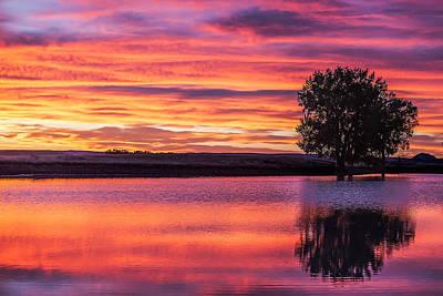 Peck Photograph - Montana Sunset by Todd Klassy