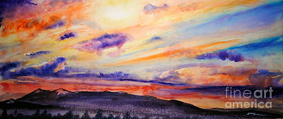 Painting - Montana Sunset by Tracy Rose Moyers