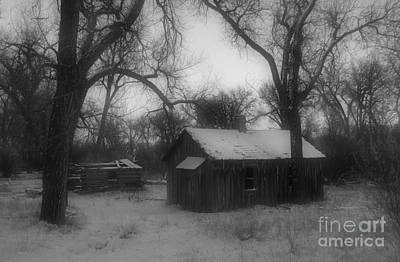 Photograph - Montana Winter Twilight Bw by Chalet Roome-Rigdon
