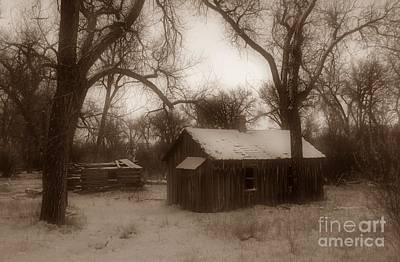 Photograph - Montana Winter Twilight Sepia by Chalet Roome-Rigdon