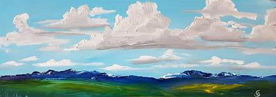 Painting - Montanathunder Clouds Rolling In    23 by Cheryl Nancy Ann Gordon