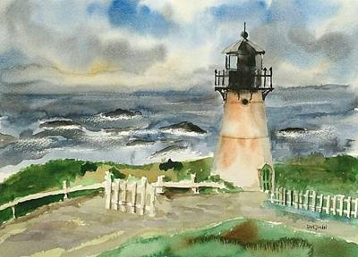 Painting - Montara Lighthouse, Plein Air by Richard Zunkel