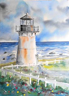 Painting - Montara Lighthouse by Richard Zunkel