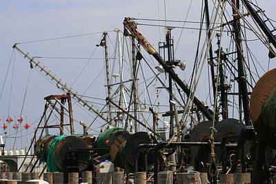 Photograph - Montauk Fish Dock by Christopher Kirby