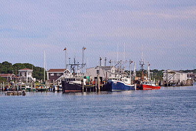 Photograph - Montauk Fishing Boats by Karen Silvestri
