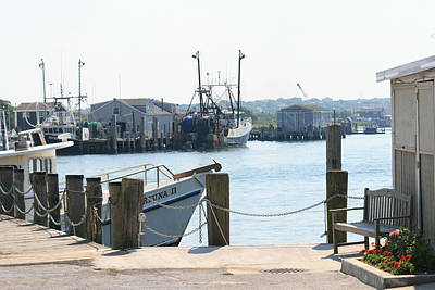 Montauk Harbor  Art Print