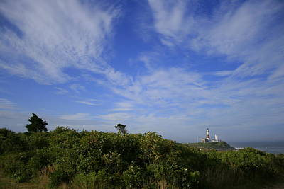 Photograph - Montauk Light And Cirrus Clouds by Christopher Kirby