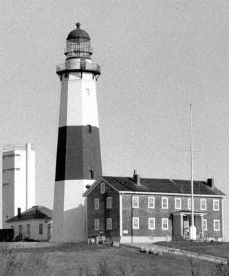 Photograph - Montauk Light Black And White  by Christopher Kirby