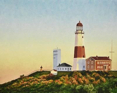Hamptons Digital Art - Montauk Lighthouse by Dmitriy Shvets