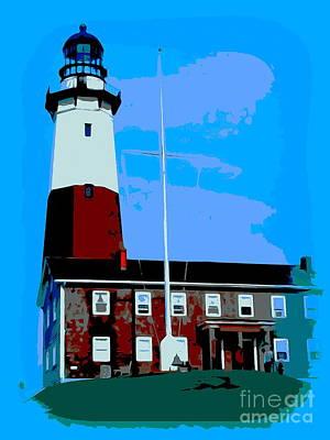 Digital Art - Montauk Lighthouse by Ed Weidman