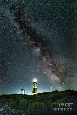 Photograph - Montauk Lighthouse Milkyway  by Alissa Beth Photography